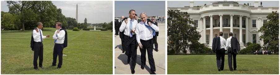 Gelijkgestemden onder elkaar. Foto's: Pete Souza/the White House