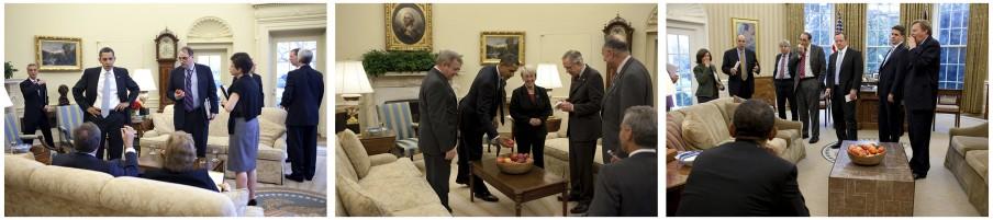 Appeltjes voor de dorst. Foto's: Pete Souza/the White House
