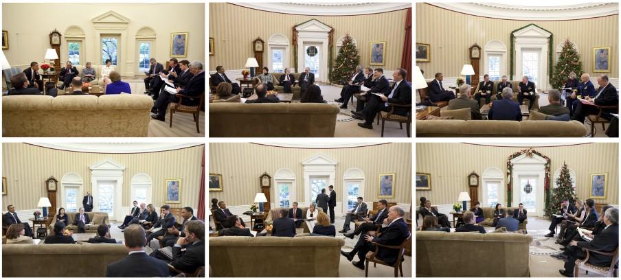 1. De huiskamer (deel 3). Foto's: Pete Souza/the White House
