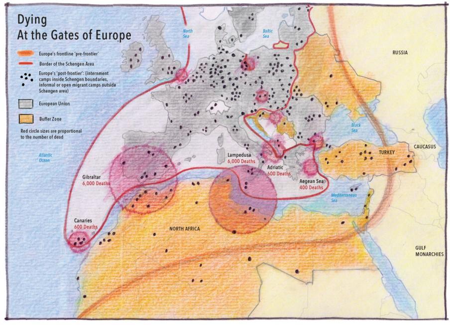Doden aan de grens van Europa