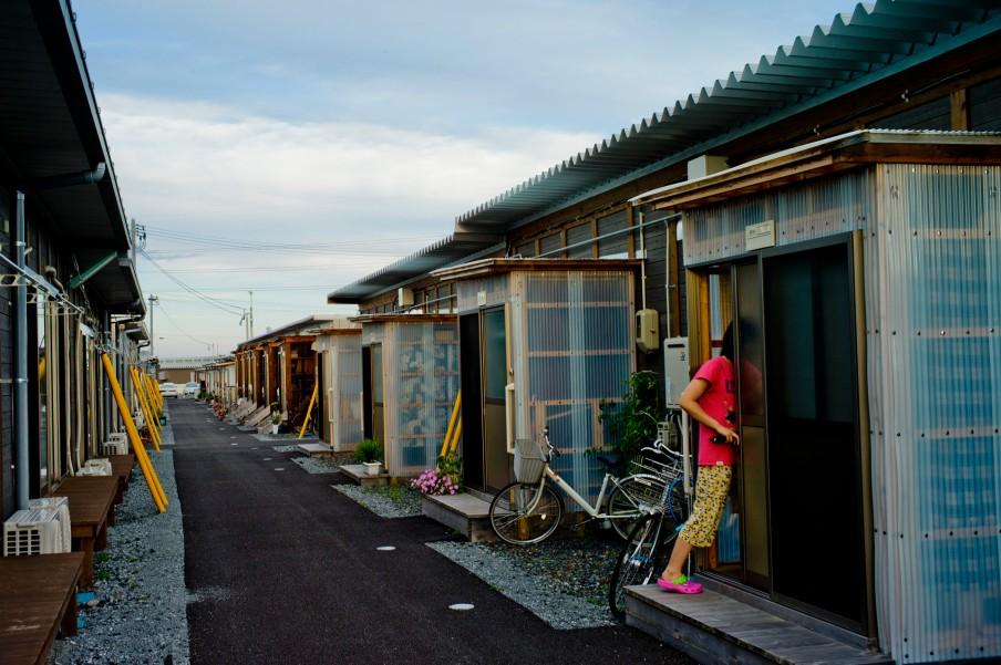 Ushigoe kamp. Tijdelijke huisvesting voor bewoners die twee jaar geleden uit het besmette gebied moesten vluchten. Foto: Tomás Munita/Hollandse Hoogte