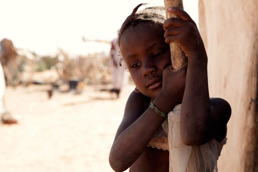 Zo'n 25% van de vluchtelingen in M'Bera zijn kinderen tussen de 0 en 11 jaar. Foto: Andreas Stahl