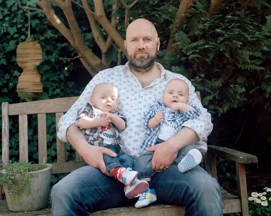 Erik, Morris & Dexter, uit de fotoserie 'Nieuwe Vaders'. Foto: Rob Philip