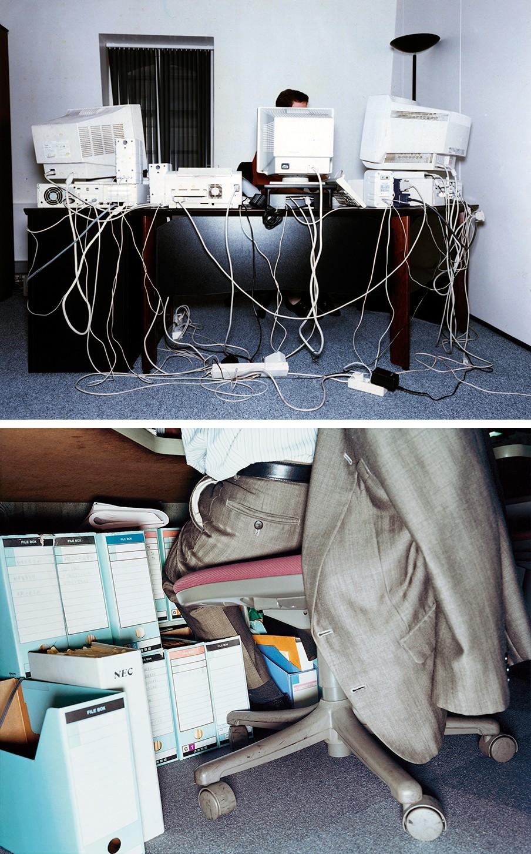 Uit het fotoboek 'Office/Kontor' van de Zweedse fotograaf Lars Tunbjörk. Foto: Lars Tunbjörk/Hollandse Hoogte