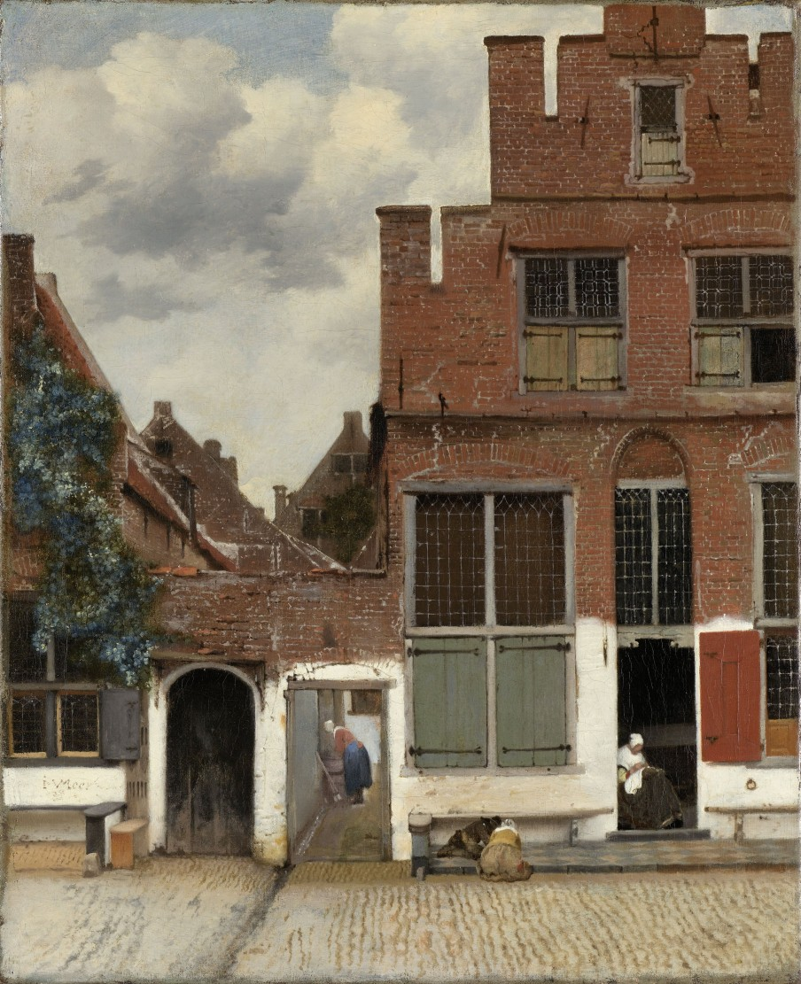 View of Houses in Delft, Known as 'The Little Street', Johannes Vermeer, c. 1658.  Image courtesy of Rijksmuseum