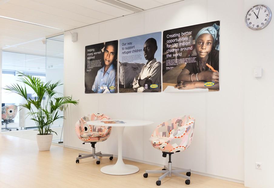 Kantoor van Ikea in Nederland, waar samengewerkt wordt met de VN-vluchtelingenorganisatie UNHCR. Foto: Pieter van den Boogert