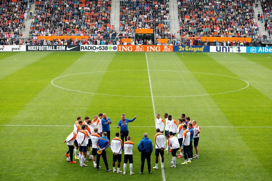 3 juni 2014. Training van het Nederlands elftal in Alkmaar. Foto: Dean Mouhtaropoulos/Getty Images