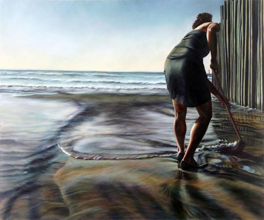 Untitled (Performance documentation at San Diego/Tijuana border) 2012, van kunstenares Ana Teresa Fernandes (Courtesy: Gallery Wendi Norris)