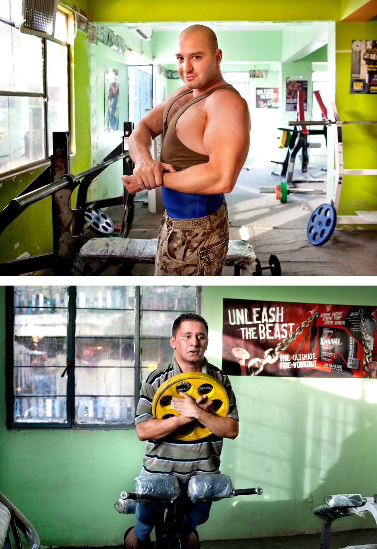 Bodybuilding is erg populair in Bagdad. Op de markt verkoopt de ene na de andere winkel goedkope fitnessapparatuur.