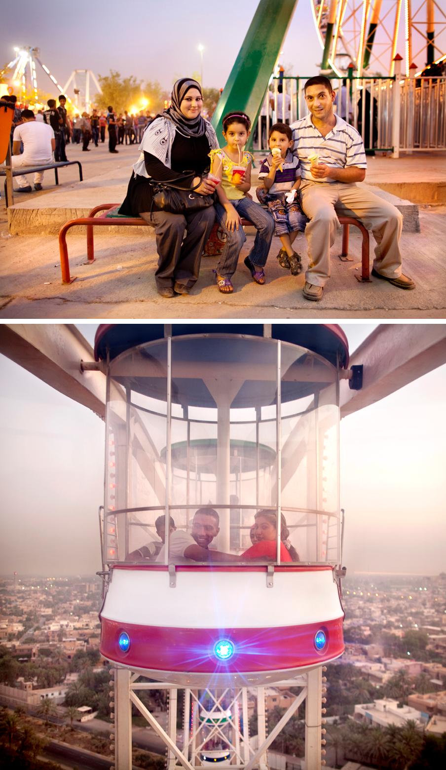 2011: Op de permanente kermis in het Zawra-park in Bagdad. Foto's: Marieke van der Velden