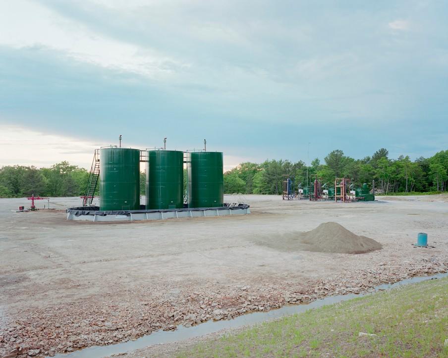 Opslag voor schaliegas in het Moshannon State Park in Penfield (Pennsylvania, VS). Foto: Noah Addis/Hollandse Hoogte