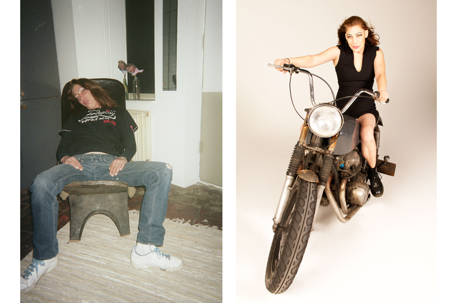 Links: 'Kim in my house'. Rechts: 'Supermodel Kim'. Foto's: Jan Hoek