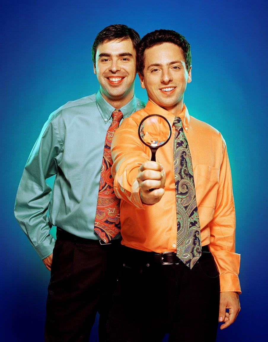 Larry Page en Sergey Brin. Foto: Michael Grecco/Hollandse Hoogte