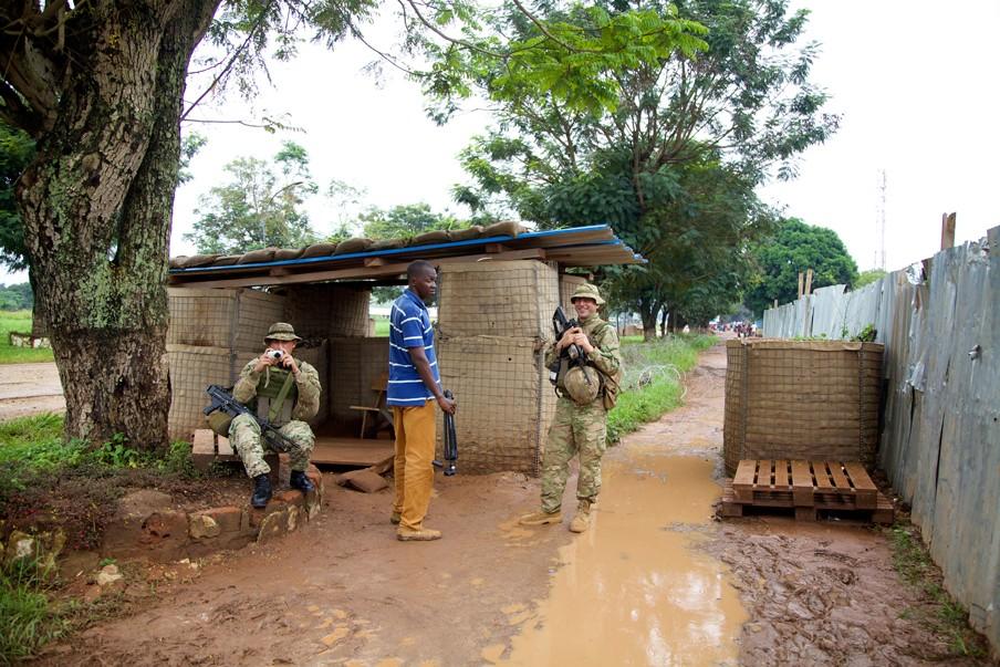 Internationale vredesmissies in Bangui, de hoofdstad van de Centraal-Afrikaanse Republiek. Foto: Anna Mayumi Kerber