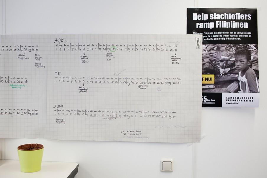 Op het kantoor van Giro555 in april dit jaar. Foto: Pieter van den Boogert