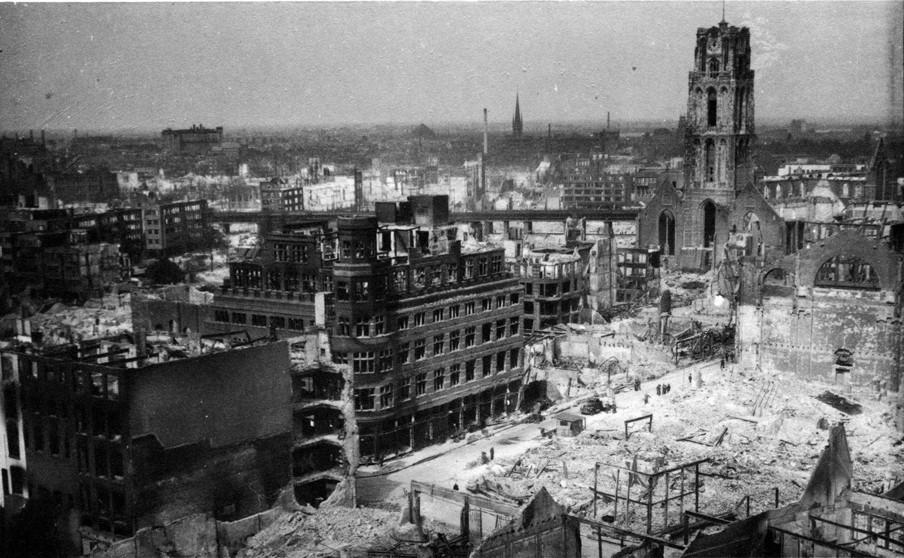 Rotterdam aan het einde van de Tweede Wereldoorlog. Foto: Hollandse Hoogte