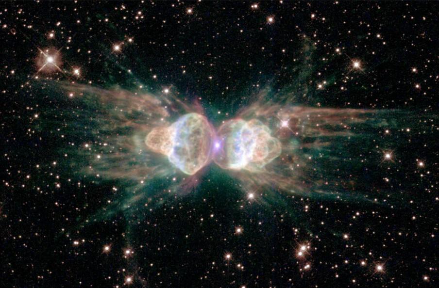 Een stervende ster gefotografeerd door de ruimtetelescoop Hubble. Foto: NASA/Getty