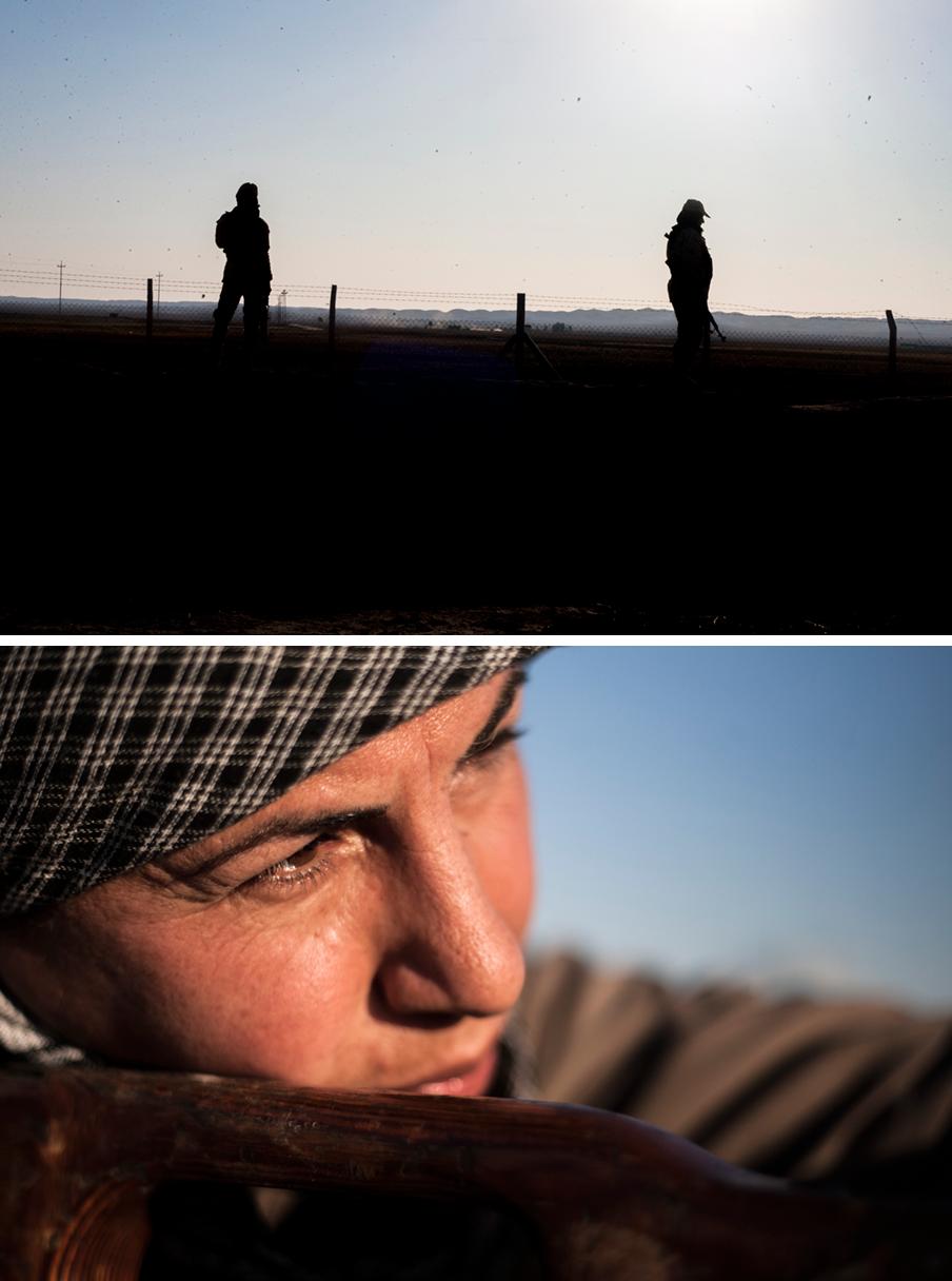 Peshmerga aan het front bij Kirkuk in Irak. Foto's: Andreas Stahl