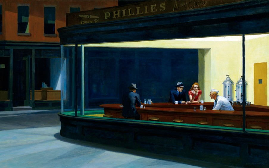 'Nighthawks' (1942) door Edward Hopper. Beeld: HH