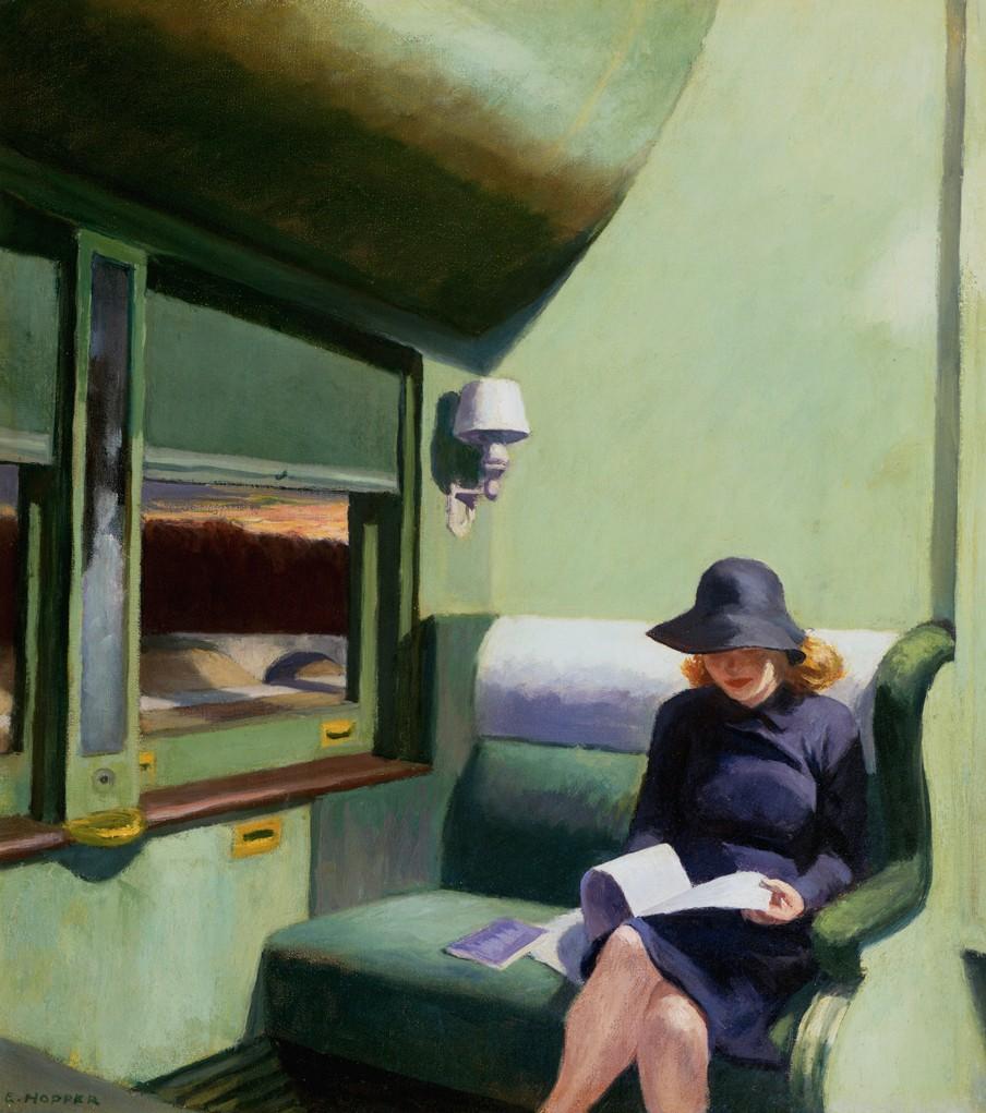 'Compartment C, Car 293' (1938) van Edward Hopper. Beeld: HH