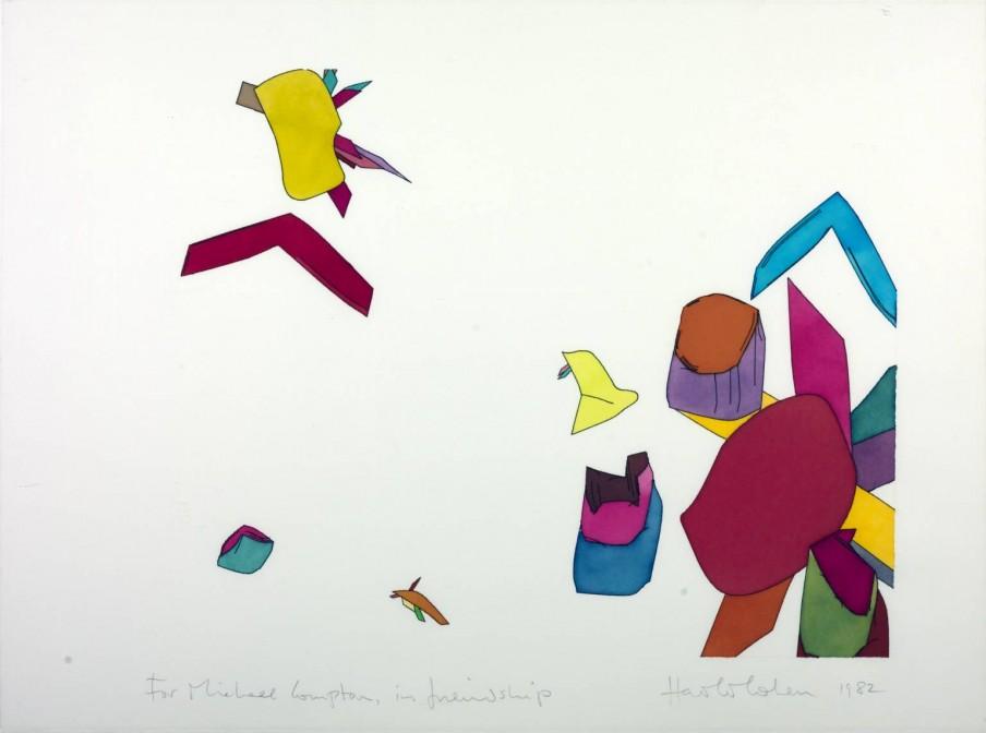 Harold Cohen, 'Untitled Computer Drawing' (1982). Tate Modern
