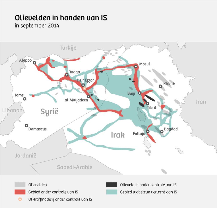 Bron: CNN / Institute for the Study of War, Petroleum Economist, Platts