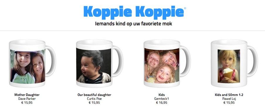 Een screenshot van www.koppie-koppie.biz