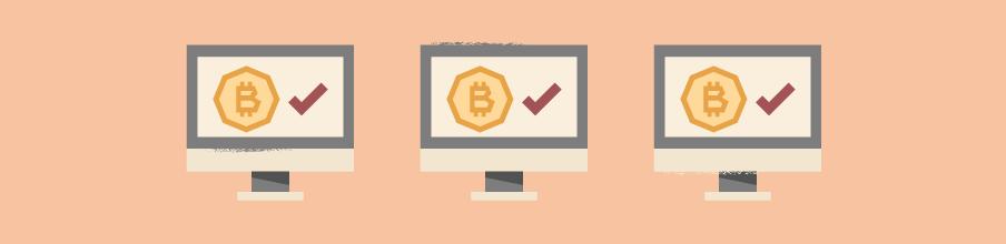 6. Loes, Derk en alle andere bitcoingebruikers krijgen bericht dat hun transactie is goedgekeurd op het tijdstip dat de puzzel is opgelost.