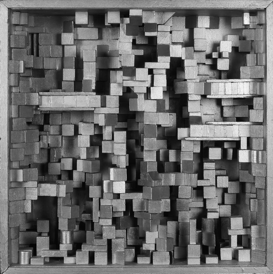 'Diorama III', 1962, New Babylon. Constant Nieuwenhuys. Collectie Gemeentemuseum Den Haag.