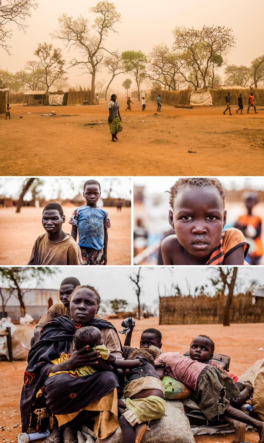 Kacheri Dabi (foto onder) vluchtte met haar zes kinderen naar Yida. Foto's: Andreas Stahl