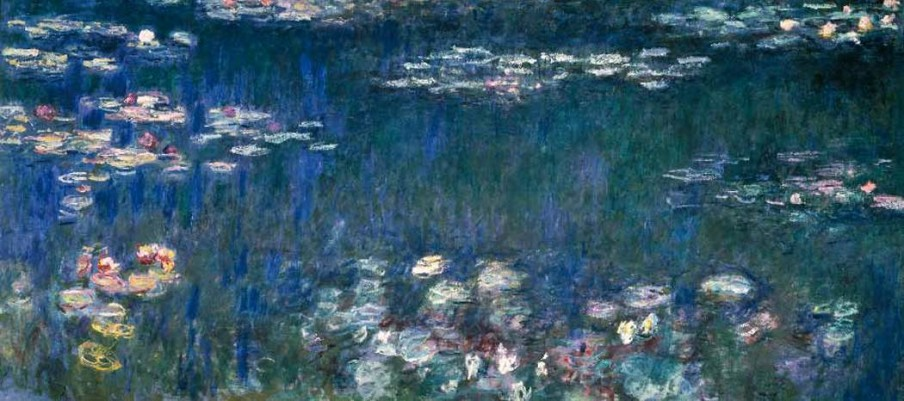 Claude Monet, Nénuphars, reflets verts (partie gauche), c. 1917-1921, Musée de l'Orangerie, Parijs