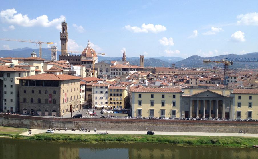 Het uitzicht over Florence (Italië). Foto: Ton Vorselaars en Ruut van der Beele