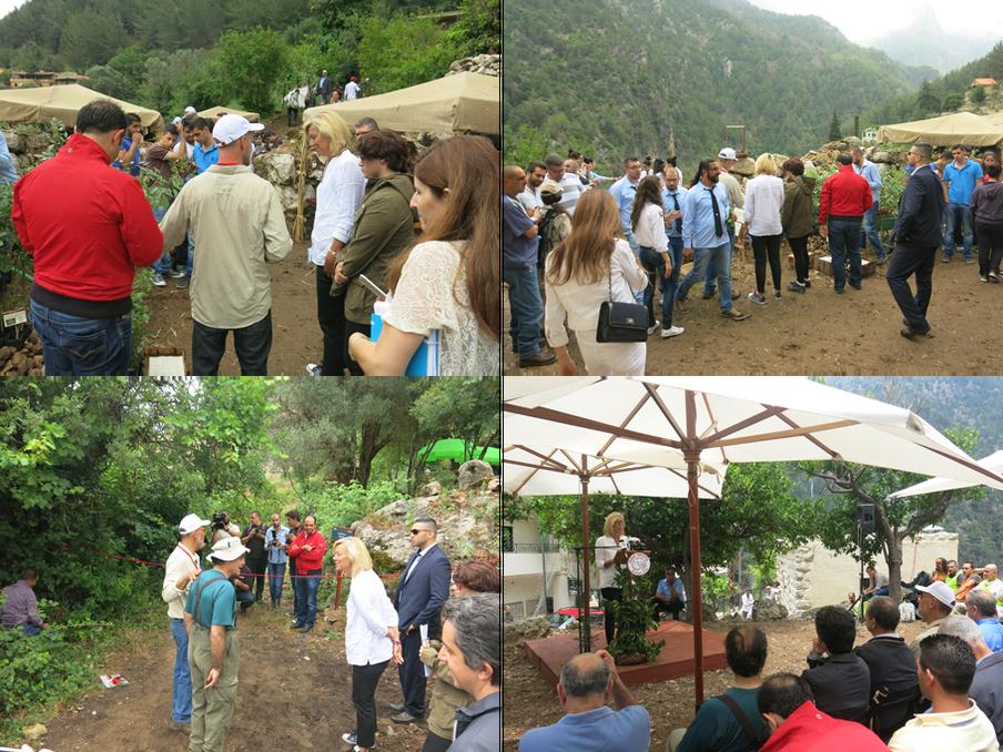 Sigrid Kaag opent een nieuwe wandelroute in ecotoerismereservaat Jabal Moussa. Foto's: Maite Vermeulen