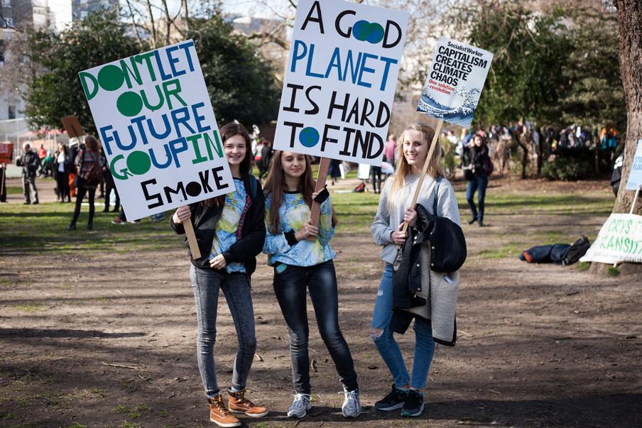 Op 7 maart 2015 werd in Londen deze 'Time To Act' klimaatmars gelopen. Deze mars werd (en zal worden) gelopen in allerlei grote steden overal ter wereld. Foto: David Cliff / Hollandse Hoogte