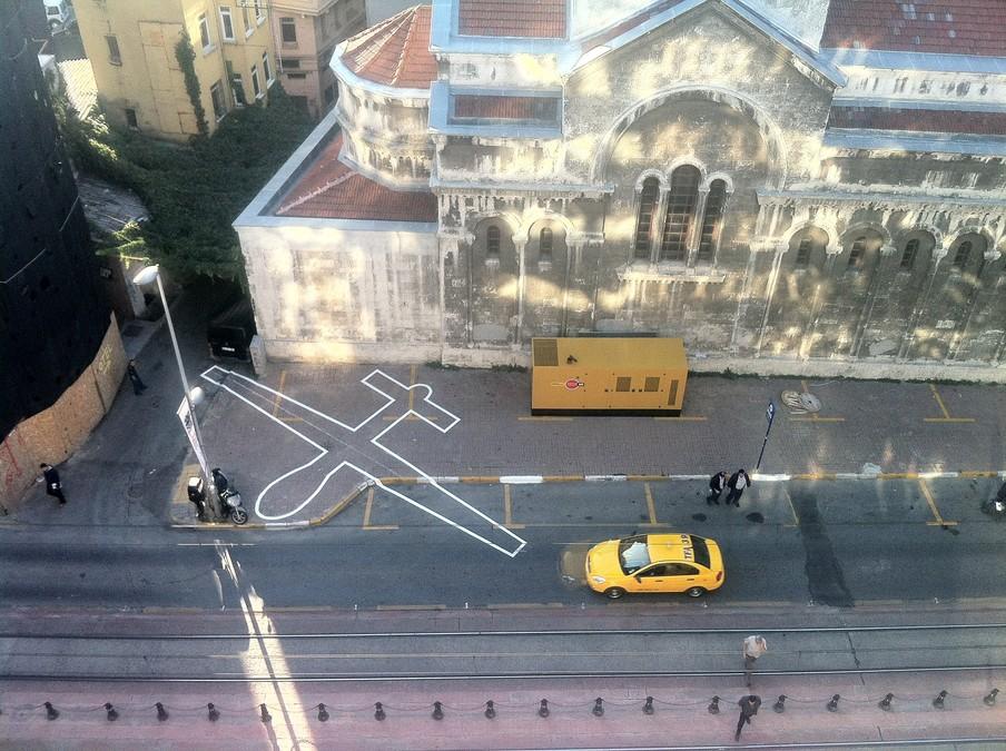 Uit de serie 'Drone Shadow' van James Bridle.