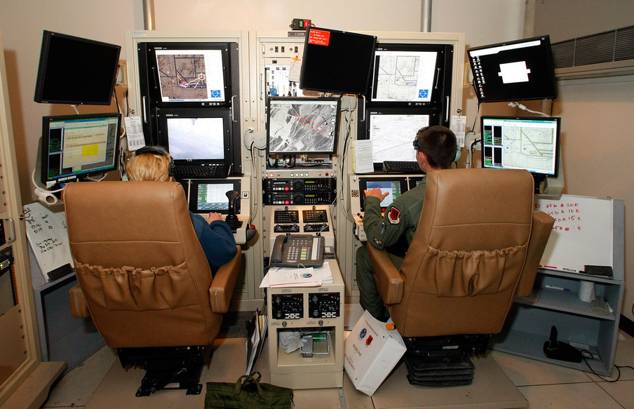 Drone operators op Creech Airforce Base.