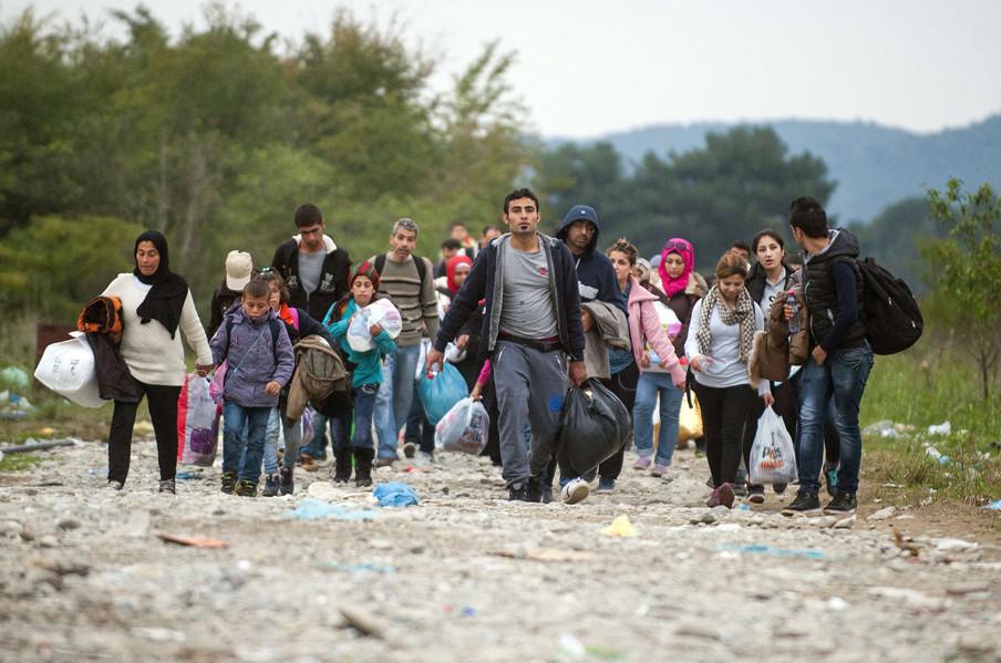 Macedonië, 17 oktober 2015. Foto: Robert Atanasovski / AFP