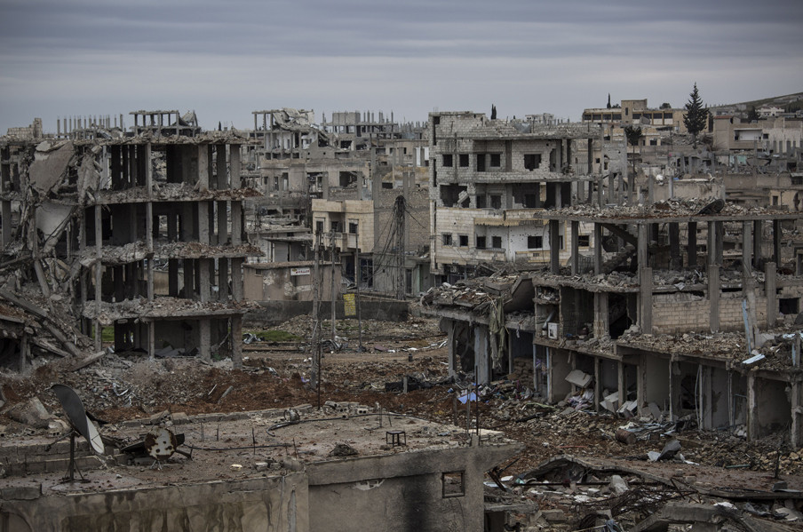 De Syrische stad Kobani. Foto: Laurence Geai / Hollandse Hoogte