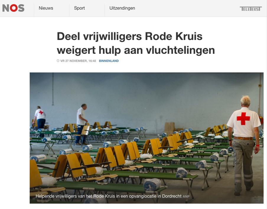 Screenshot van de NOS-site.