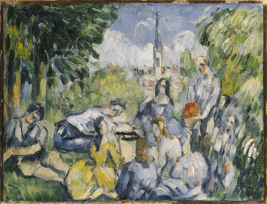 Paul Cezanne. Le Déjeuner sur l'herbe (1876-1877) Beeld: Wikimedia Commons