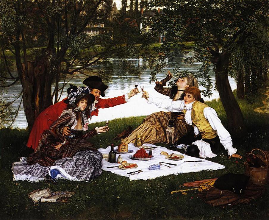 La Partie carre?e, James Tissot (1870) Beeld: Wikimedia Commons