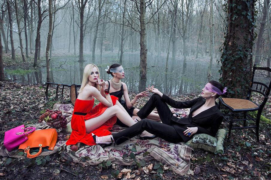 Diors herfst-wintercampagne 'The Secret Garden III Versailles'. Beeld: Dior