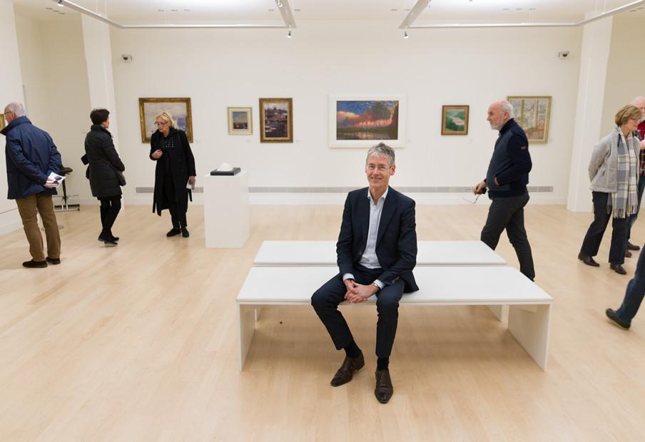 Arie Slob in Museum de Fundatie. Foto: Ivo van der Bent (voor De Correspondent)