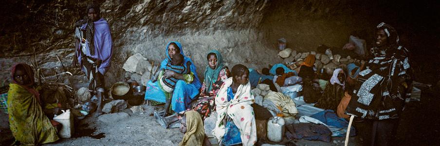 De rebellen hebben een deel van het berggebied Jebel Marra in handen. Soedanese troepen en milities hebben het gebied omsingeld. In de bergen leven meer dan honderdduizend burgers. Foto's: Adriane Ohanesian