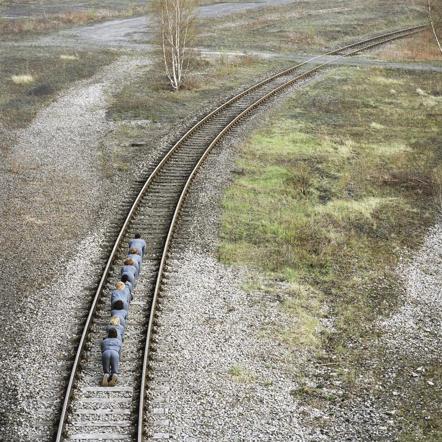 Uit de serie 'Auf die plätze, fertig, los'. Foto: Frauke Thielking