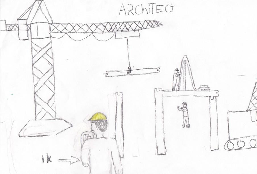 Jason droomt ervan architect te worden. Illustratie: Jason
