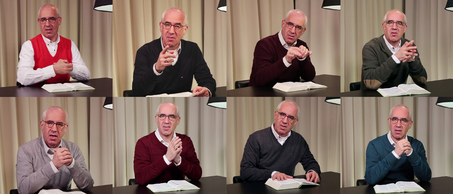 Verschillende afleveringen van De Boodschap op MaasbachTV. Beeld: screenshots van YouTube