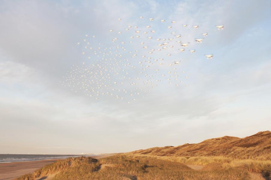 Uit de serie Dawn of the Drones. Foto: Hans Poel