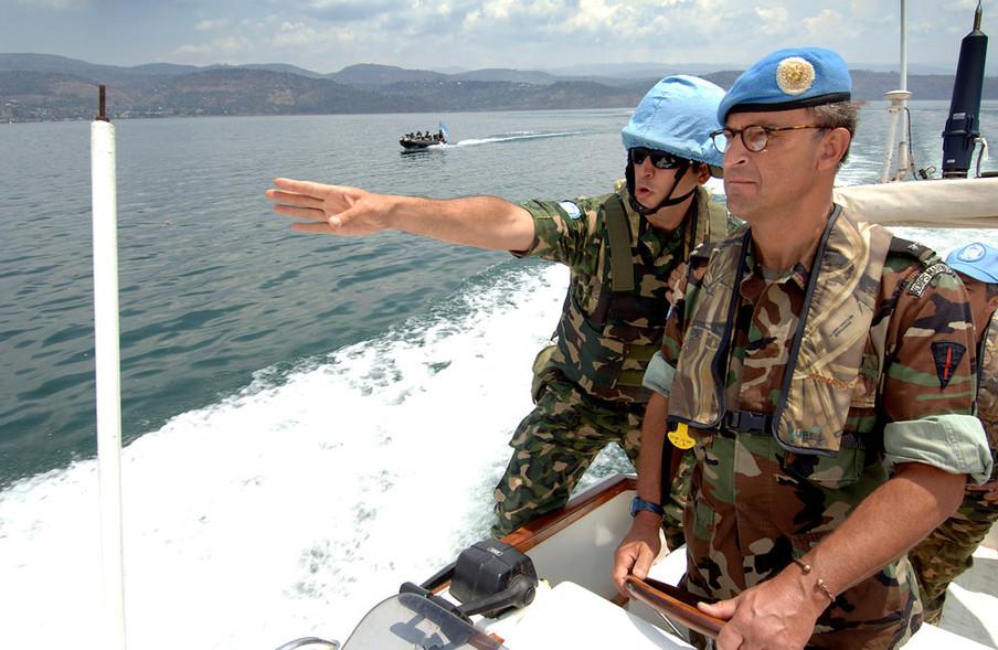 Patrick Cammaert in Ituri, Kivu, Oost-Congo (voormalig Zaïre), augustus 2005.