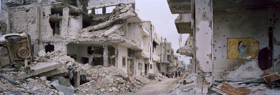 In het zakendistrict van Kobani